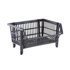 Our Basic Black Stackable Baskets | The Container Store
