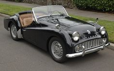 This 1962 Triumph TR3A is a documented three-owner example that was originally owned by an American Airlines pilot. A repaint was performed in 1977, and the rockers were replaced at the same time. In 2015, the interior was changed to tan. The 2138cc inline-four was rebuilt in 1977 and benefitted fro