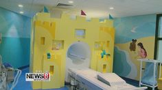 Bam Studio designed this beautiful, beach retreat for the patients in the Pediatric MRI suite at Yale New Haven Hospital. The suite includes a large mural made of paint, vinyl and Formica Envision™
