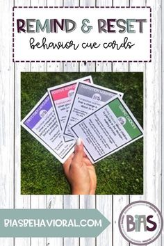 Remind & Reset Behavior Cue Cards are a quick reference tool for parents, educators, or therapists. Use these cards as a REMINDER of a particular behavioral strategy, and to RESET the approach you are using with your child, student, or client.
