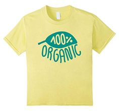 Kids 100% Organic Vegan Shirt for Women - Men Vegetarian T Shirts 12 Lemon - Brought to you by Avarsha.com