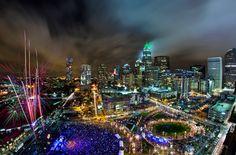 Charlotte at night.