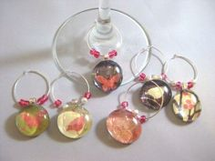 #Custom #Wedding  Made Wine Charms Set of 6 by Glassology | Hatch.co