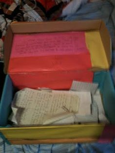 The ultimate romantic gesture: A box full of love letters you wrote to your wife 10 years before meeting her!