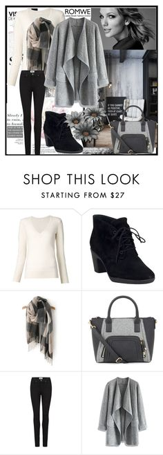 """""""Black - Grey Scarf"""" by armina-27 ❤ liked on Polyvore featuring moda, Chloé, Clarks, Paige Denim ve Chicwish"""