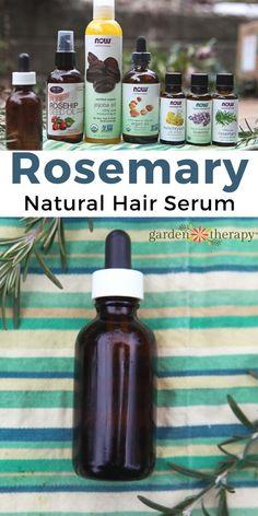 Nourishing and Natural Hair Serum Recipe with Rosemary and Jojoba