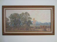 Anne C. Bradley Plein Air Oil on Canvas Period Frame – Designer Unique Finds