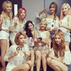 Girls Generation! I love the outfits they wore in Party. I wish I knew how to buy them!
