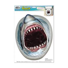 Luau Party KILLER SHARK TOILET TOPPER CLING Bathroom Decoration - Got LUAU??? Fun in the sun! New Luau party props decorations at http://horror-hall.com - 10% Off any purchase with code: TENOFF Exp. May 31