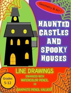 This line patterned,creative drawing lesson was a huge hit with my eighth…
