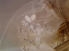 Hearts Birdcage wedding veil pearl and rhinstone by Beyondaveil, $75.00