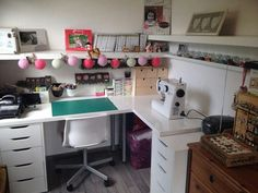 Coin Couture, Sewing Rooms, Corner Desk, Craft Studios, Organization, Offices, Addiction, Crafts, Inspiration