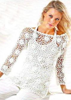 Crochet Blouse Pullover Free Pattern