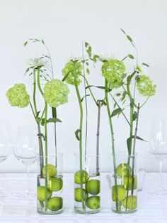 36 Home Decor Flowers You Will Want To Try - Home Decoration Experts Diy Flowers, Flower Decorations, Wedding Decorations, Table Decorations, Deco Floral, Floral Design, Green Centerpieces, Summer Deco, Vides