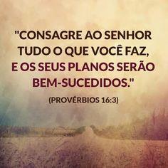 Resultado de imagem para provérbios 16:3