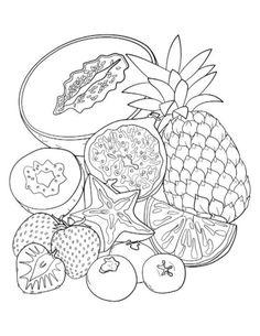 Mandala Kleurplaten Fruit.175 Beste Afbeeldingen Van Coloring Fruit Vegetable In 2019