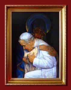 Jan Paweł II, Totus Tuus, 70cm x 50cm, Obraz olejny na płótnie