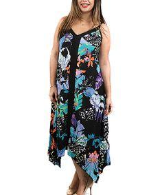Another great find on #zulily! Black & Blue Handkerchief Dress - Plus by Shoreline #zulilyfinds
