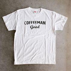 PENT HOUSE (@penthouse_aomr) on Instagram: 【COFFEEMAN good T-shirts PROTOTYPE White & Grey】 一枚一枚手刷りのプリントになります。そのため版の擦れがあったりもしますが、それも味。 BODYは厚手の5.6onzで首元もしっかりです。 グレータイプはポケット付きになります。 プロトタイプなもので店頭のみでのお取り扱いになります。 #coffeemangood #ペントハウス