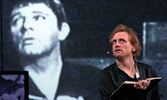 Words, words, words … Scott Shepherd (with Richard Burton on film) playing Hamlet in The Wooster Group's production at the Edinburgh Interna...