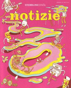 Illustration by Brosmind.  #Notizie #Magazine #Editorial #Illustration #Design #Brosmind