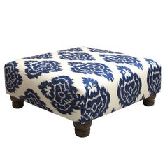 Spacious, versatile and comfortable describe this cocktail ottoman. Featuring stylish upholstery and plush foam padding. Great to use as a tabletop or footrest.