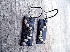 Kamienkové náušnice / KatarinaKondacova - SAShE.sk - Handmade Náušnice Drop Earrings, Handmade, Jewelry, Fashion, Moda, Hand Made, Jewlery, Jewerly, Fashion Styles