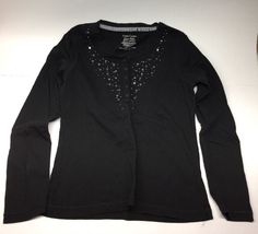 Faded Glory Girl's Long Sleeved Shirt, Black, Size L/G (10-12) #FadedGlory #DressyEveryday
