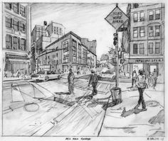CurbedNY tipped us off to a remarkable british artist named Nathan Walsh who captures realistic street scenes in cities all over the world. Walsh uses a pencil to sketch out incredibly detailed thr...