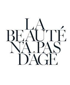 Schönheit hat kein Alter.