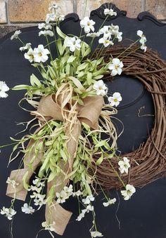 """22"""" Wild Flower Front Door Wreath"""