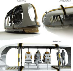 This public transport has 6 wheels, electric power source and drive computer. Its speed range is very slow ranging from 5 to 15 km/h. Around 6 people can sit comfortably and 4 to 5 people can stand while traveling. The view would be amazing while traveling because there are glasses on all four sides of this vehicle. The overall concept and design is great but I doubt how far it would fulfill future mobility and public transport needs. Jake Eadie