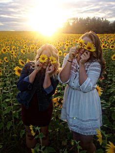 sunflowers and best friends