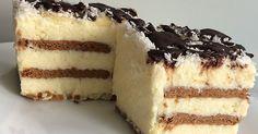 ciasto kokosowe, bez pieczenia, z wiórkami kokosowymi, z kremem budyniowym, idealny deser, na przyjęcie, do kawy, na zimno,