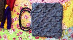 My first cabling in knit project. My purse!