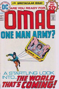 OMAC #1 1975 Jack Kirby Scripts - Pencils - Cover Art Rare Comic Books, Comic Books For Sale, Satellite Network, Time Warner, Classic Comics, Jack Kirby, American Comics, Book Publishing, Cover Art