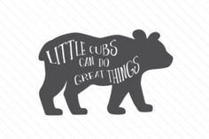 Little cubs can do great things - Creative Fabrica