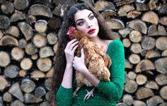 Wallpaper aljona, inese stoner, girl, chicken, makeover, snow, wood wallpapers situations - download