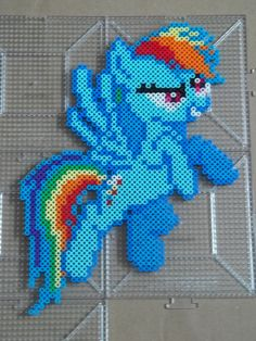 Rainbow Dash Perler beads by *The-Original-Kopii on deviantART