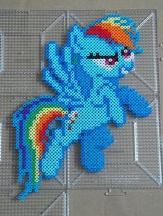 Rainbow Dash Perler beads by *The-Original-Kopii on deviantART