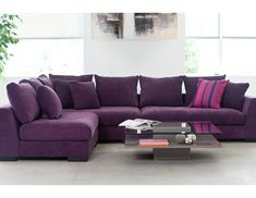Living Room : Sectional Sofas : Cooper (Purple) *Faints* A couch in one of my favorite colors!!!!