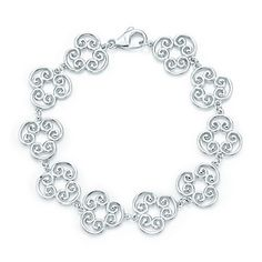 Tiffany & Co. - Paloma's Venezia Goldoni triplo link bracelet in sterling silver -- the earrings are great too!