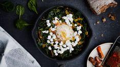 Palak Paneer, Acai Bowl, Grains, Rice, Breakfast, Ethnic Recipes, Food, Acai Berry Bowl, Morning Coffee