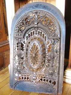 Metal fireplace front (or lovely home accessory!)