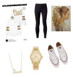 """Cute Outfit for anyday "" by alyvinsik on Polyvore featuring Jockey, Converse, Michael Kors and Sydney Evan"