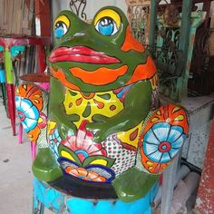 Mexican Garden, Frogs, Painting, Design, Art, Old Town, Art Background, Painting Art, Kunst