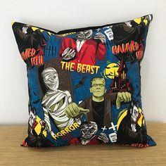 Dracula Frankenstein Monster Cushion Cover. Gift for kids.
