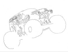 grave digger logo coloring pages - photo#37