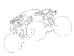 Monster trucks on pinterest monster trucks monster jam for Grave digger coloring pages