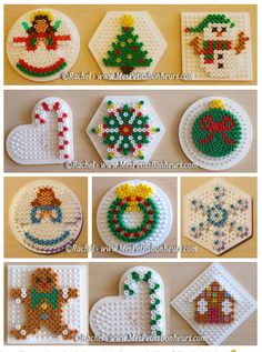 christmas bead hama patterns objects for fir - Laura Galan - - noel en perles hama modèles objets pour sapin christmas bead hama patterns objects for fir - Hama Beads Design, Diy Perler Beads, Perler Bead Art, Decoracion Navidad Diy, Christmas Perler Beads, Art Perle, Motifs Perler, Pearler Bead Patterns, Perler Patterns